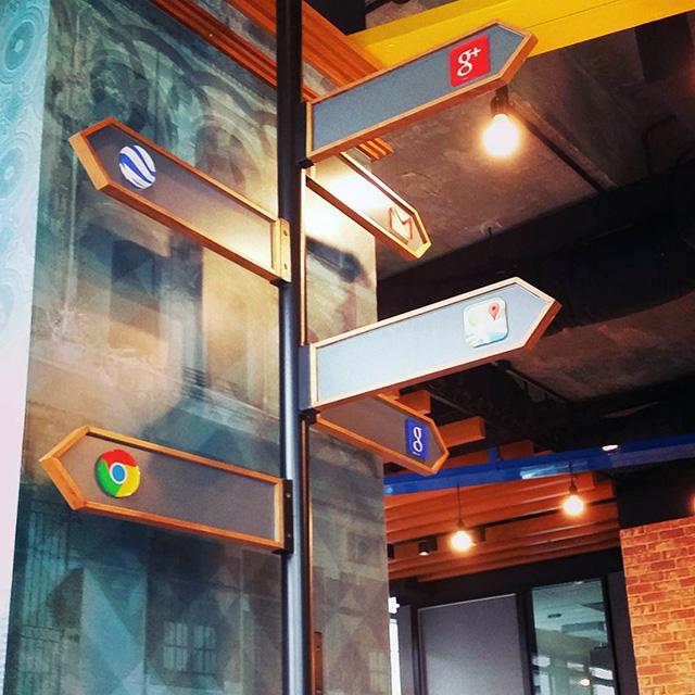 Google Crossroads Signs