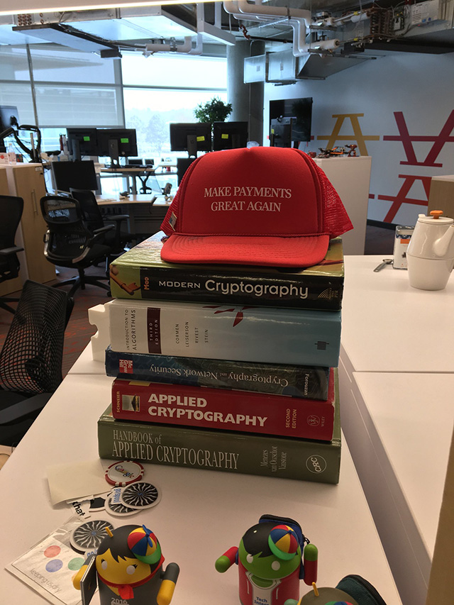Google Working On Cryptography? Make Payments Great Again Hat