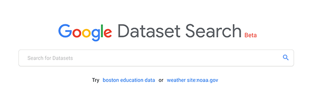 Google Datasets Search