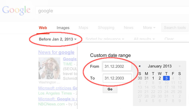 Google Search By Date Bug