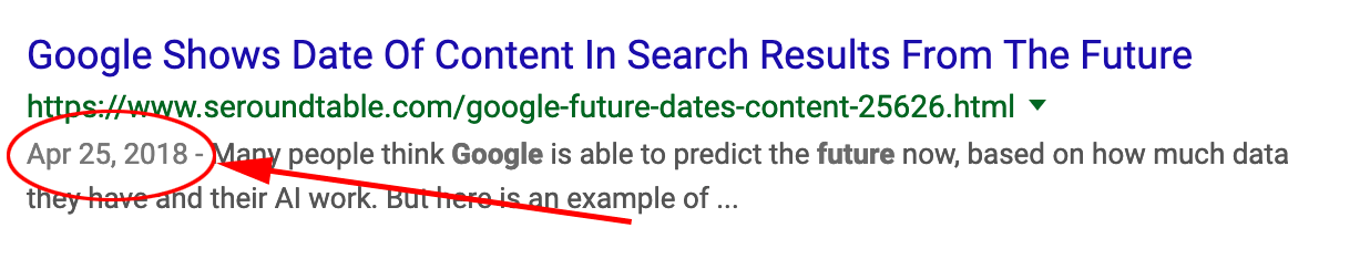Google Writes About How They Selects Dates For Search