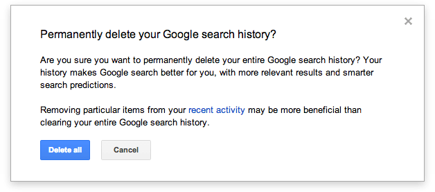 Google Argues Deleting Your Web History Does In Fact Do Something