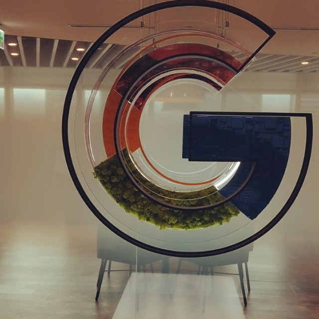 Google Dimensional G Logo Sign