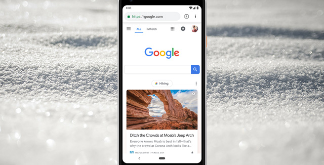 Google changed its mobile homepage for the first time in years