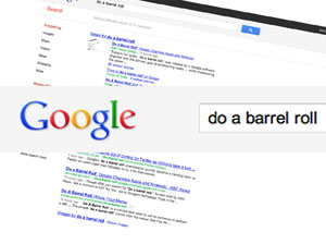 fun do a barrel roll on google