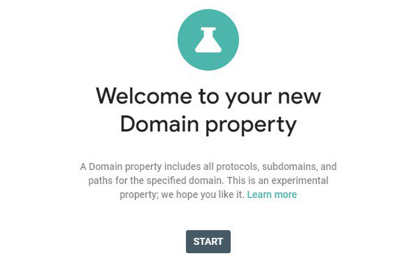 Google Search Console Testing New Domain Property