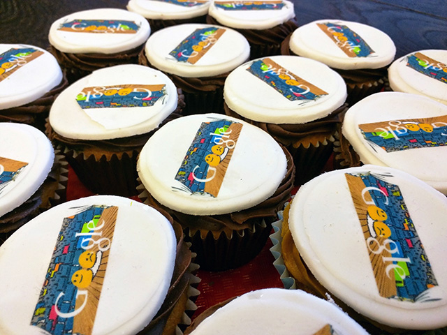 Google Doodle On Cupcakes
