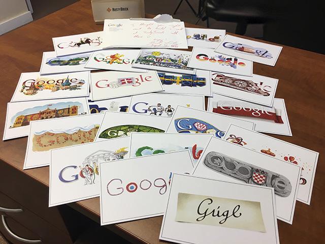 Google Doodle Postcards