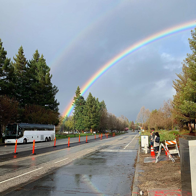 Double Rainbows At Google