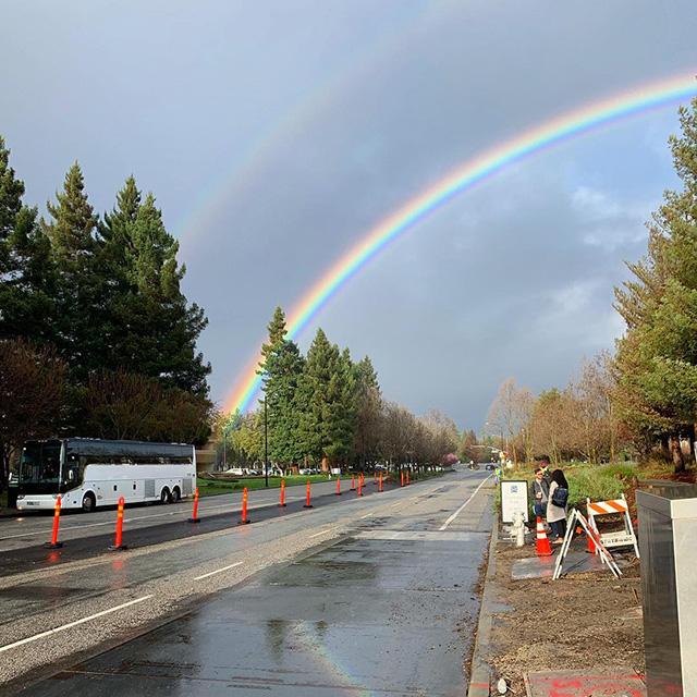 雙重彩虹在Google
