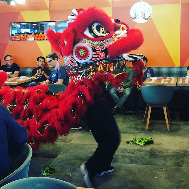 Dragon Dance Costume Party At Google