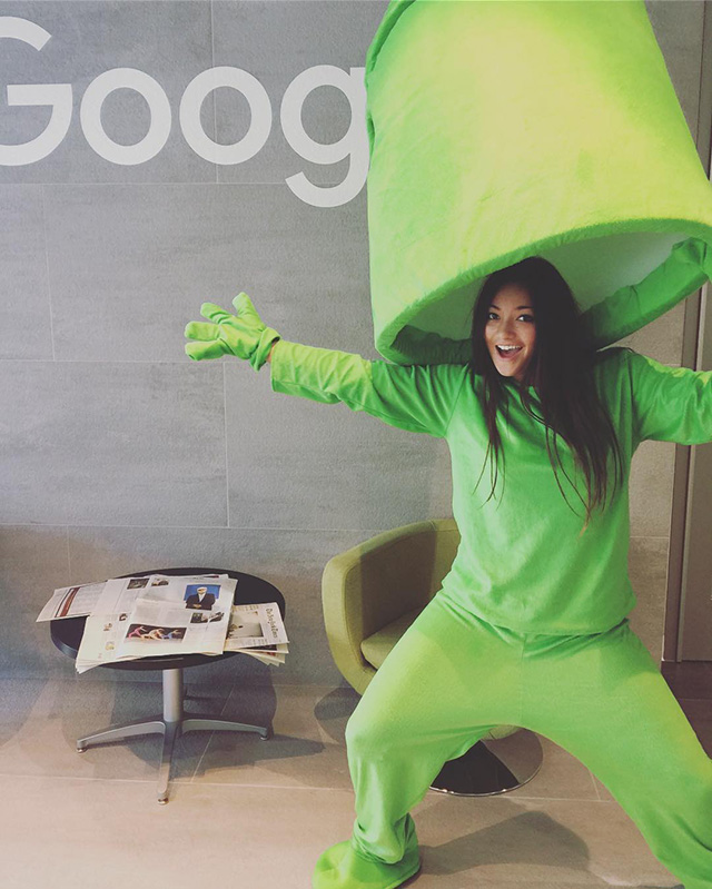 Googler Dressed As Android Lampshade