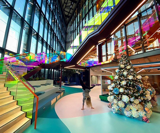 Google Dublin Lobby During Christmas