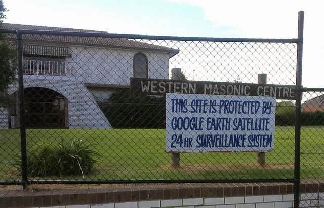 Google Earth Satellite Security System