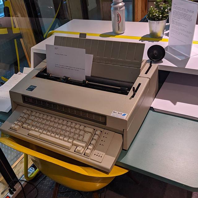 Google Electric Typewriter