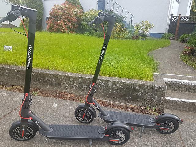 EScooters de socios de Google