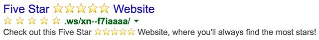 Google Emoji URL indexed