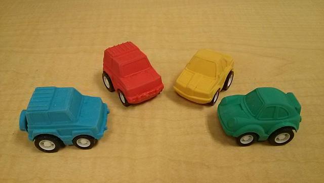 Google Toy Car Erasers