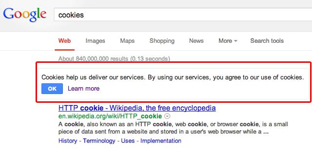 Google EU Cookie Notice