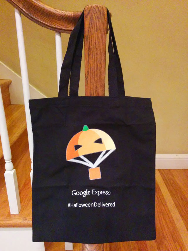 Google Express Halloween Delivery Bags