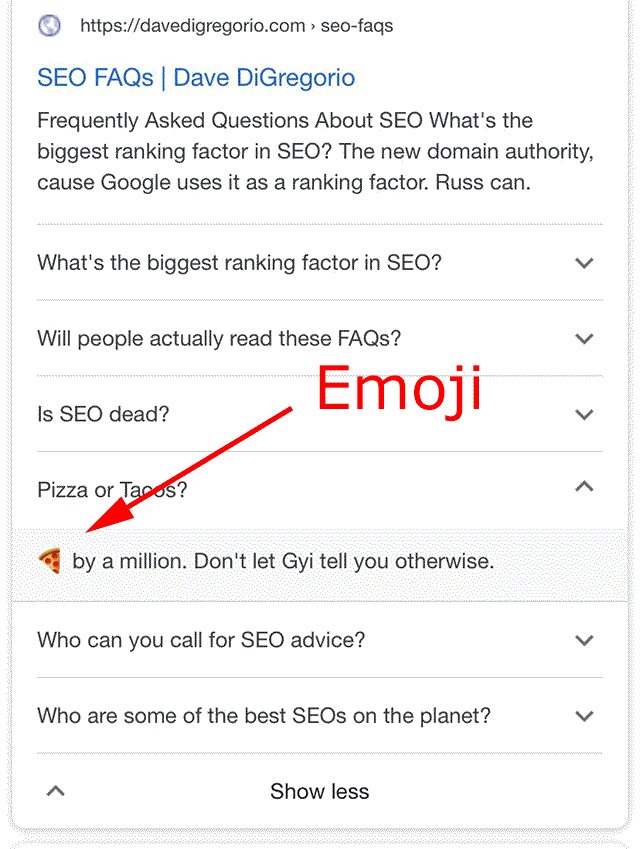 Google Currently Allows Emojis, Links & Unicode In FAQ Rich Results