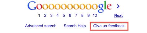 Google Feedback Link