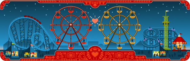 The Google Ferris Wheel Logo For George Ferris's 154th Birthday