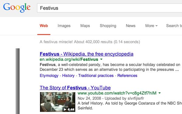 Google Festivus Pole