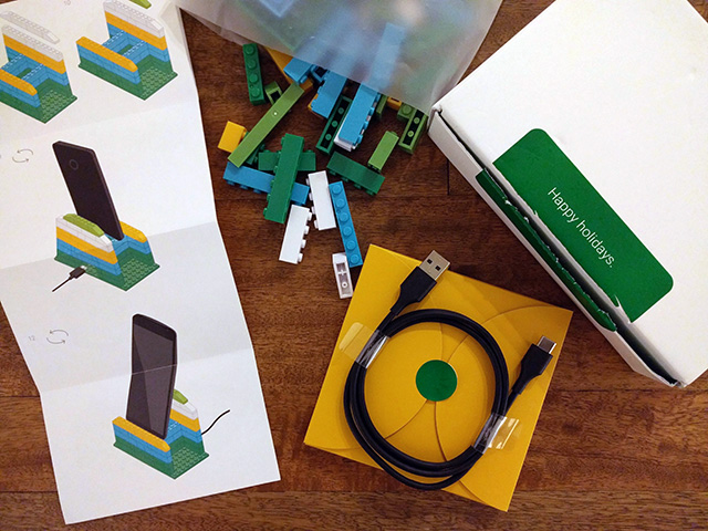 Google Project Fi Phone LEGO Stands