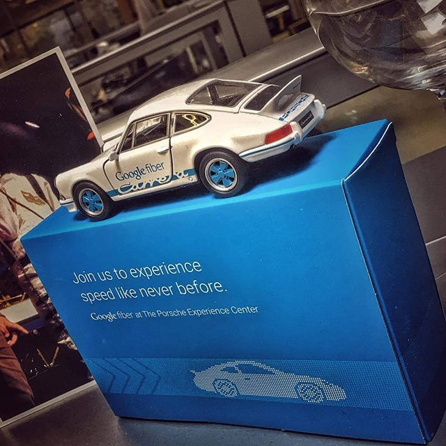 Google Fiber Toy Porsche Car