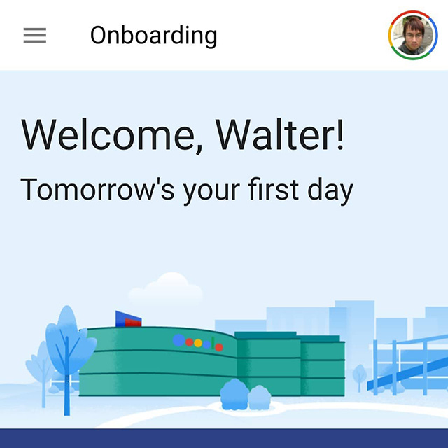 Google Email For First Day Of Work