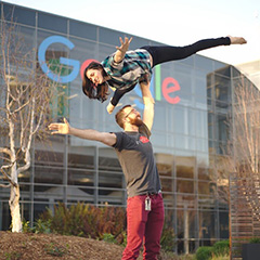 First Work Day At Google Yoga Pose