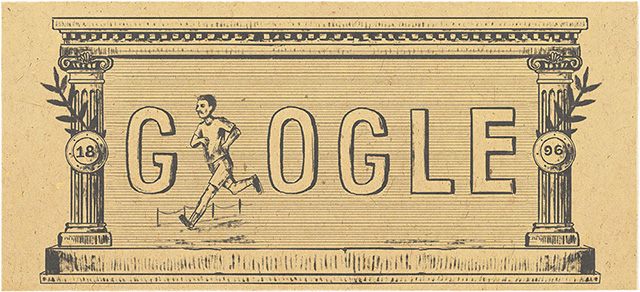 Google Doodle For First Modern Olympic Games On Its 120th Anniversary