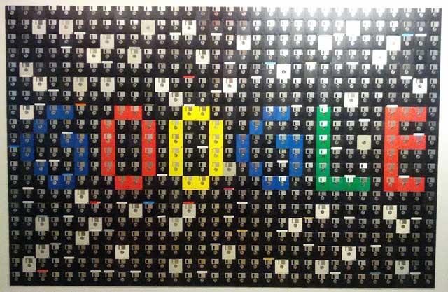 Floppy Disk Google Logo