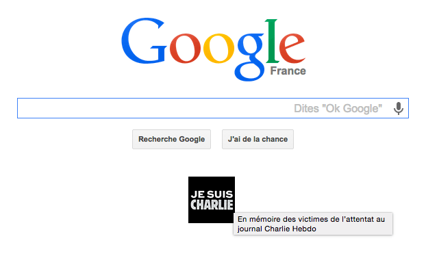 Google home page in France