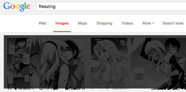 Google Image Search Freezing With Anime Porn