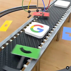 Google G Logo Printer Machine Simulation
