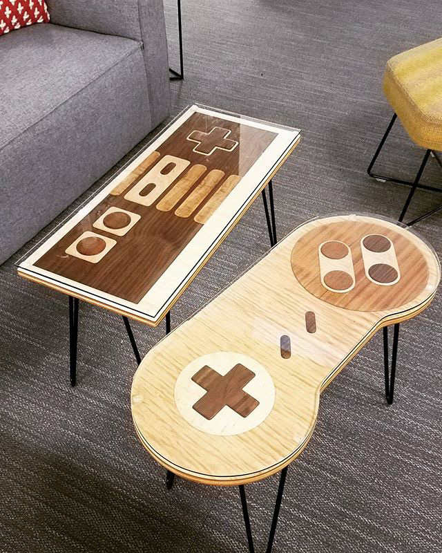 Controller Coffee Table.Google Bought Game Controller Cocktail Tables