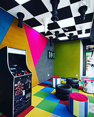 Google Game Room Has An Upside Down Chess Ceiling