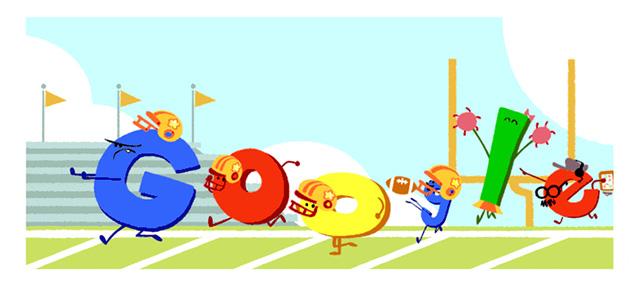 Google NFL kickoff Logo