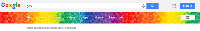 Google's Gay Pride Banner Live In Search Results