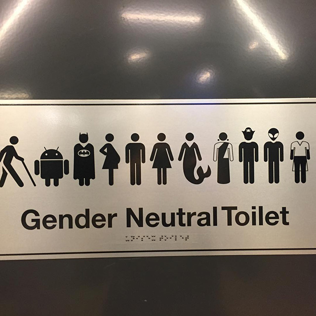 Google Gender Neutral Bathroom Sign