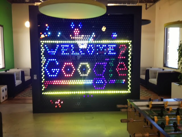 Google's Giant Lite Brite