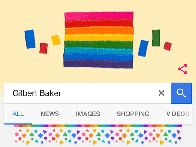 Google Doodle Honors Rainbow Flag Creator Gilbert Baker's Birthday