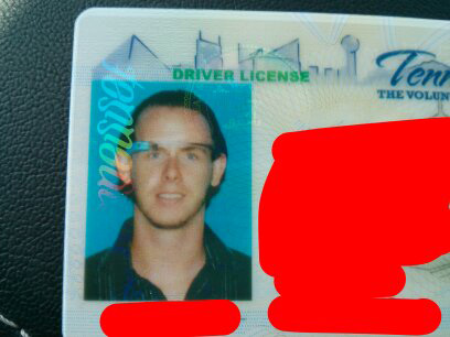 Google Glass Drivers License Photo