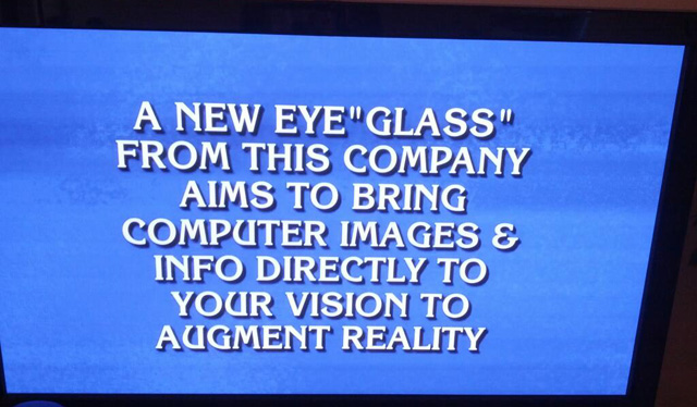 Google Glass on Jeopardy