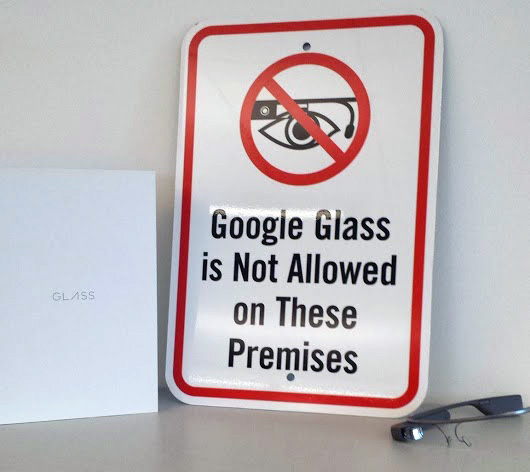 NO Google Glass Sign