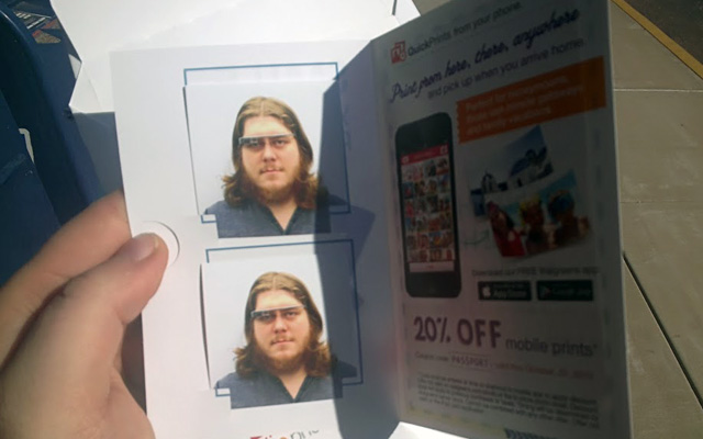 Google Glass Passport Photo Denied