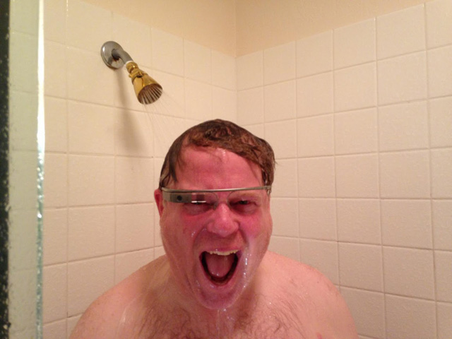 Scoble Takes A Shower With Google Glass