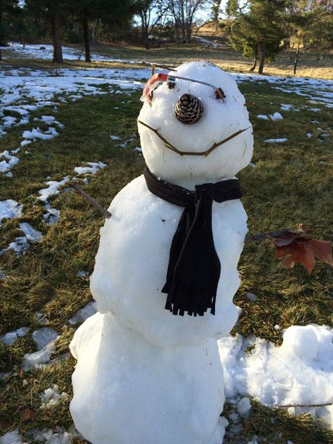 Google Glass Snowman